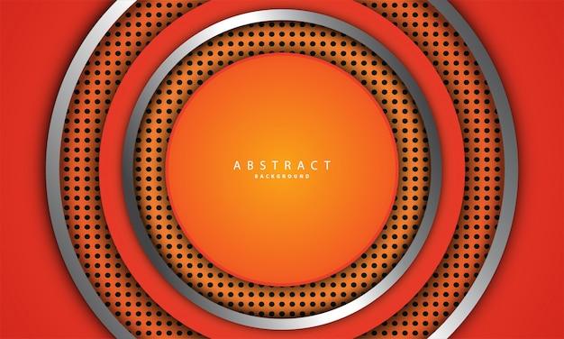 Orange metallic background