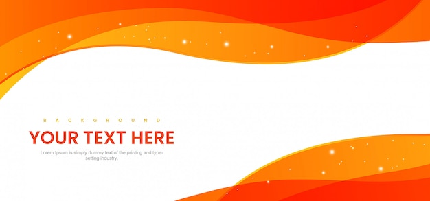 Orange modern abstract background