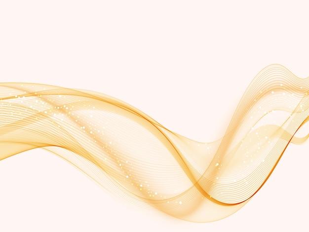 オレンジ色のモダンな抽象的な線は、証明書をスウッシュスピード滑らかな波の境界線の背景