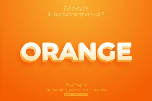Orange modern editable 3d text style effect