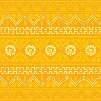 Оранжевый родной американский этнический узор тема векторное искусство