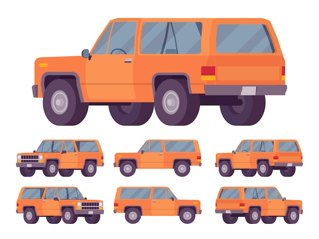 Orange offroad set