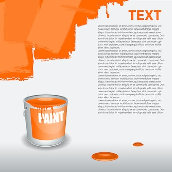 Orange paint dripping on the wall