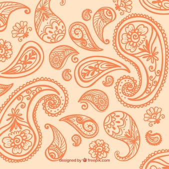 Orange paisley background