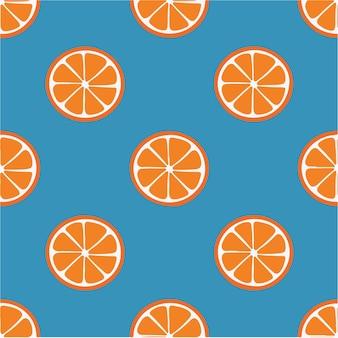 Оранжевый узор фон социальных сми сообщение фруктов векторные иллюстрации