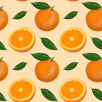 Orange pattern background.