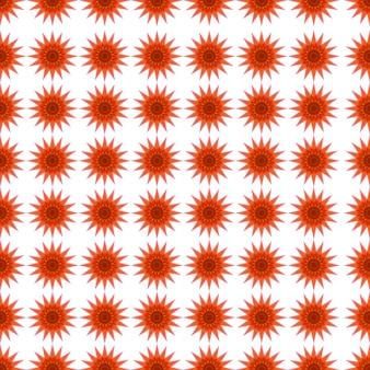 Orange pattern on white background