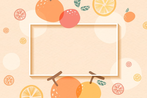 Orange patterned frame