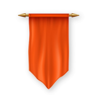 Orange pennat flag