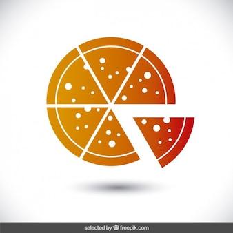 Icona arancione della pizza
