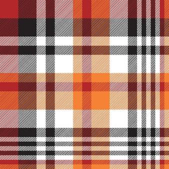 Orange plaid seamless fabric texture