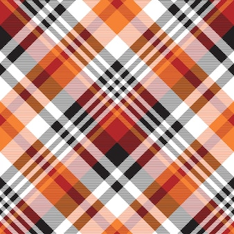 Orange plaid seamless fabric texture