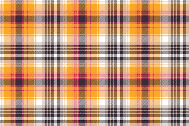 Orange plaid seamless pattern
