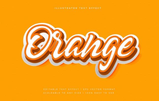 Orange playful text style font effect