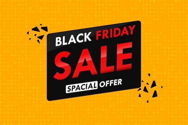 Оранжевый фон в горошек с продажей текста в рекламной акции черной пятницы.