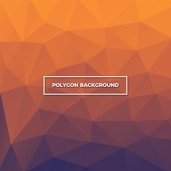 オレンジ色のポリゴンの背景