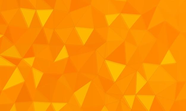 オレンジ色の多角形の背景。ベクトルイラスト。