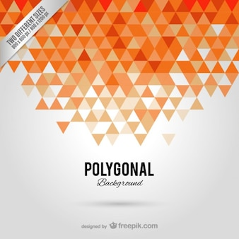Sfondo arancione poligonale