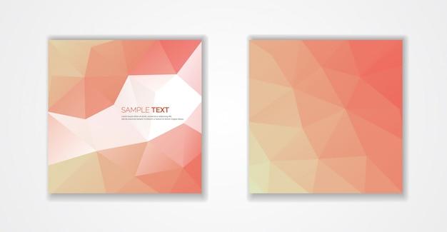 Orange polygonal covers design. minimal geometric pattern