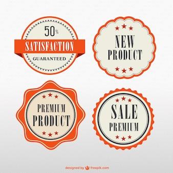 Orange premium product badges