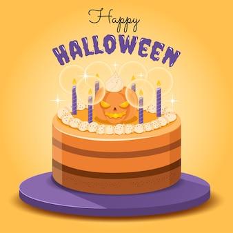 ハロウィン用オレンジパンプキンケーキ