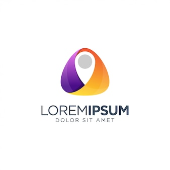 Orange and purple abstract logo template