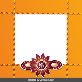 Orange raksha bandhan frame