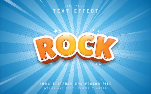 Orange rock comic text effect