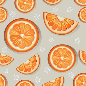 Orange seamless pattern design