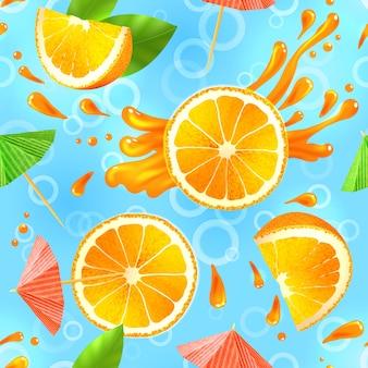 オレンジシームレスパターン