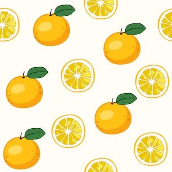 オレンジ色のシームレスパターン