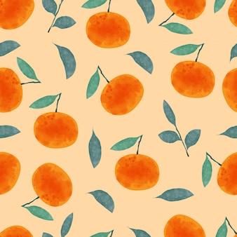 Orange seamless pattern.