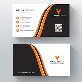 Orange shape visit card