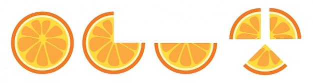 Orange slice clip art vector.