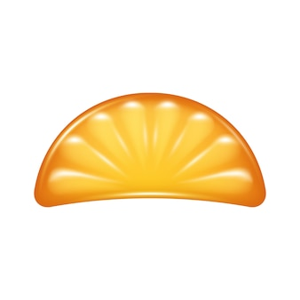 Orange slice jelly candy icon.