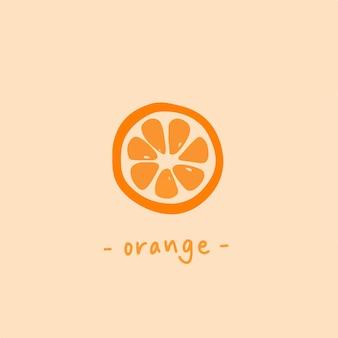 オレンジスライスシンボル健康的な果物のベクトル図