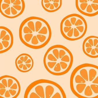 Дольки апельсина узор фона фрукты векторные иллюстрации
