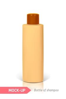 Orange small bottle of shampoo
