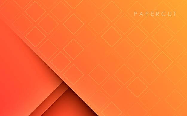 Orange smooth gradient texture papercut background