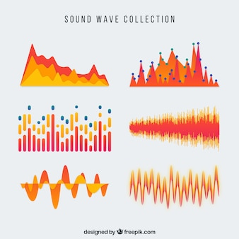 Orange sound wave collection