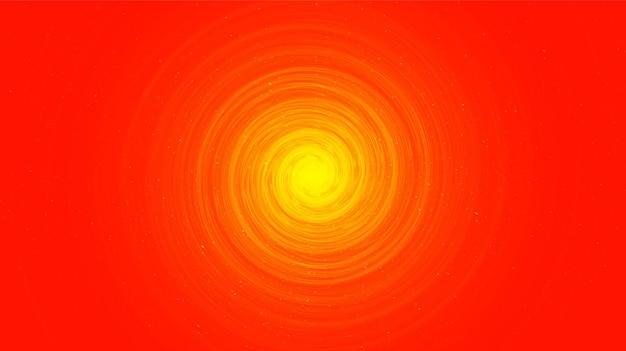 天の川スパイラル、宇宙と星空のコンセプトデザインで銀河の背景にオレンジ色のスパイラルブラックホール、