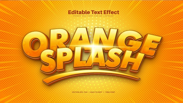 Effetto testo spruzzi d'arancia
