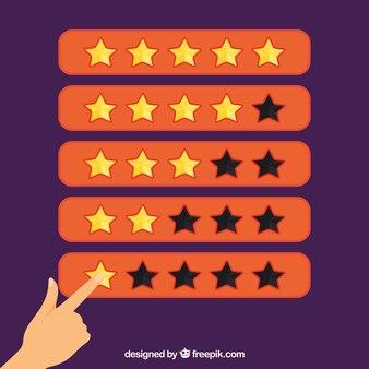 Оранжевая концепция рейтинга с пальцем