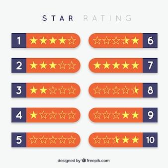 오렌지 스타 등급 디자인