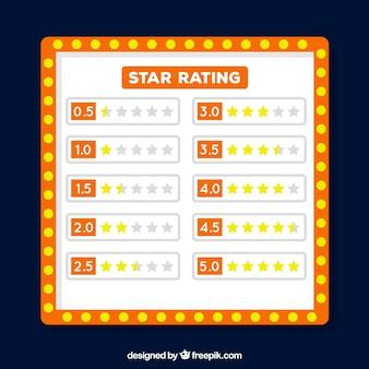 Orange star rating