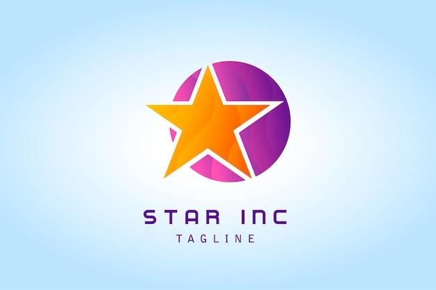 Orange star with purple circle gradient logo for company