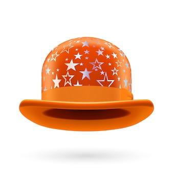 Orange starred bowler hat