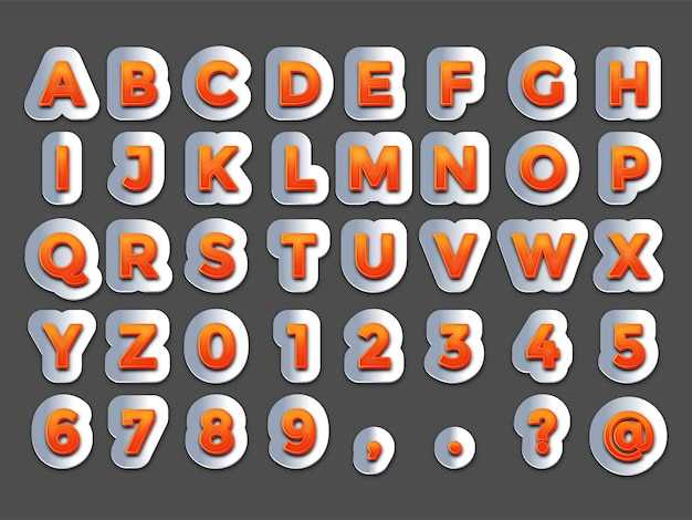 Orange and steel text effect free vector