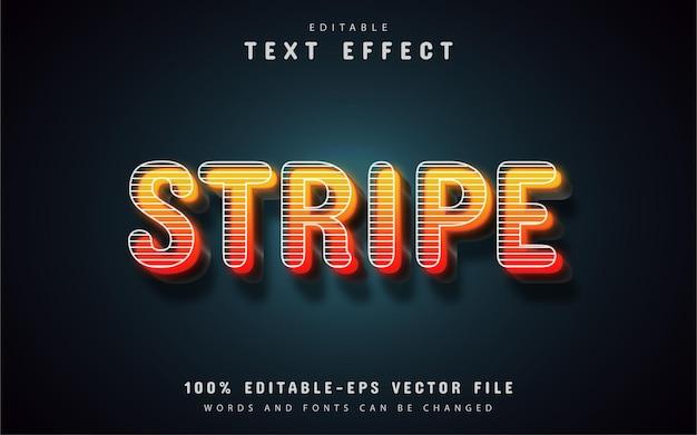 Orange stripes text effect