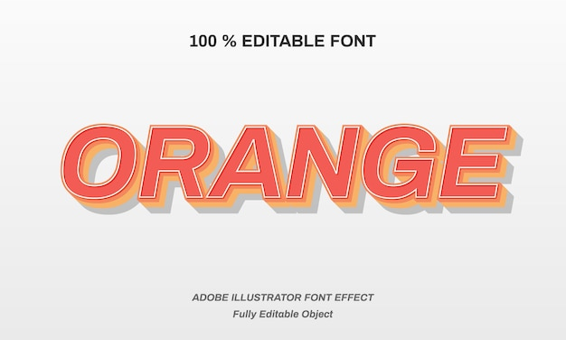 Orange strong blod font effect